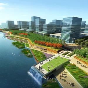 Shunde Guipan River-Urban Park pedestrian piers-nk9.jpg