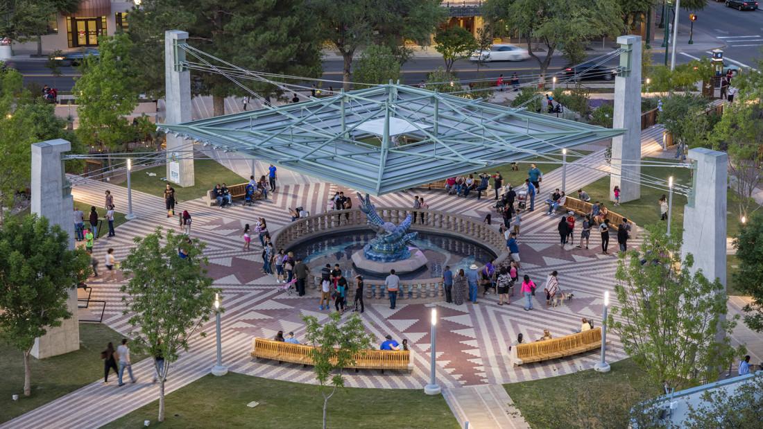 San jacinto plaza for Pool design el paso tx