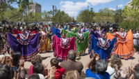 <p>Local commitment to the projects was so strong that El Paso voters approved by a large margin the passing of a Quality of Life bond, which funded the reconstruction of San Jacinto Plaza.  Today, this lively plaza is the locus of community life.</p>
