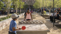 <p>The plaza's legendary alligators find new form as design details, while thoughtfully designed flexible space allows for year-round activities ranging from programmed holiday events to spontaneous games of ping-pong.</p>